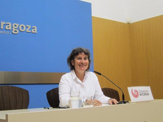 La concejal de ZeC en el Ayuntamiento de Zaragoza, Luisa Broto