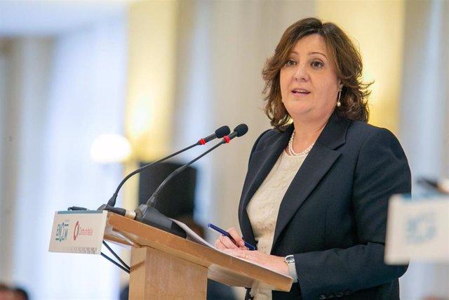 La consejera de Economía, Empresas y Empleo, Patricia Franco, en el 'Espacio reservado'.