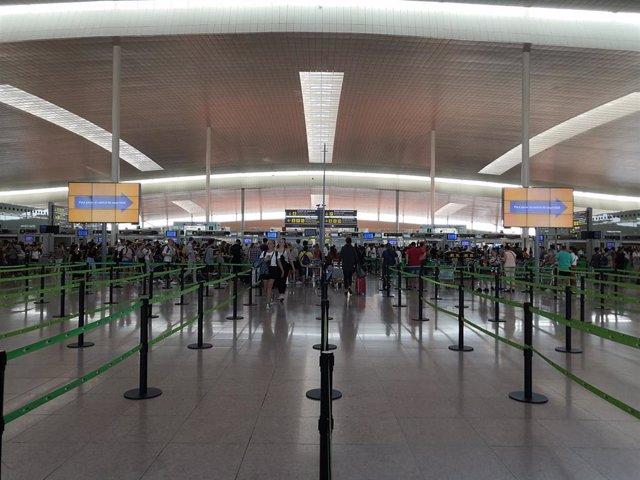 La Terminal 1 del Aeropuerto de Barcelona-El Prat.