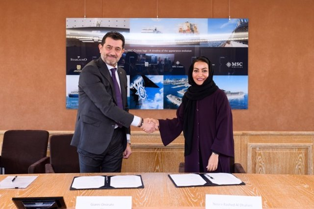 MSC Cruceros ha firmado un acuerdo a largo plazo con Puertos de Abu Dhabi