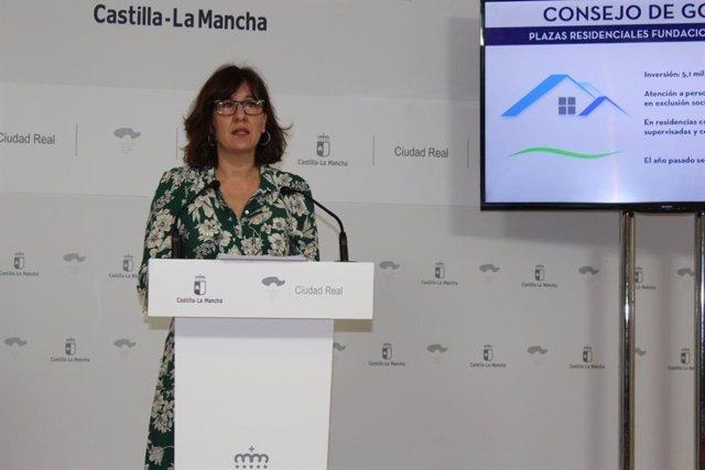 Rueda de prensa de la consejera de Igualdad y portavoz del Gobierno regional, Blanca Fernández.