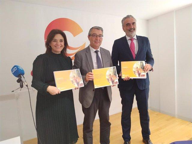 Margarita del Cid, Francisco Salado y Luis Callejón Suñé presentan el Plan de Marketing 2020-2023