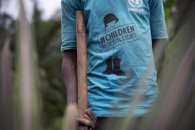 Sudán del Sur.- UNICEF pide fondos con los que desmovilizar a los niños soldado