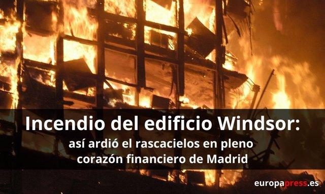 Incendio del edificio Windsor en Madrid en 2005