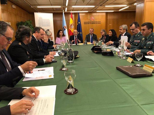 El delegado del Gobierno, Javier Losada, preside la primera reunión de la comisión de seguimiento del Xacobeo de la Delegación del Gobierno