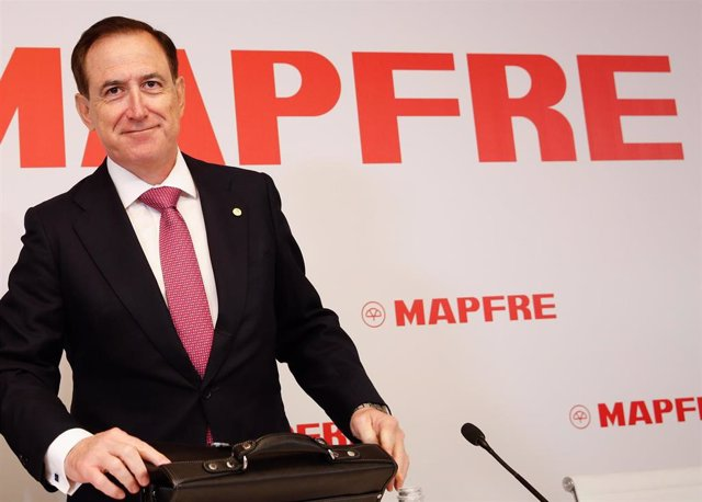Antonio Huertas, presidente de Mapfre, en la presentación de los resultados de 2019