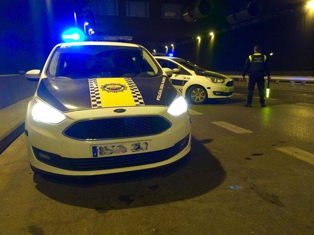 Coches patrullas de la Policía Local de València