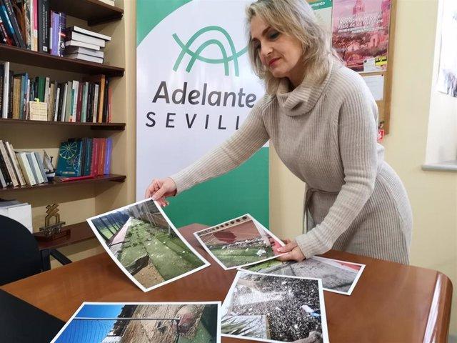 La concejal de Adelante Sevilla Eva Oliva