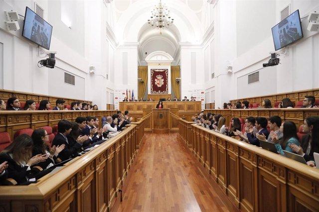 Imagen de la segunda simulación de las Cortes de Castilla-La Mancha