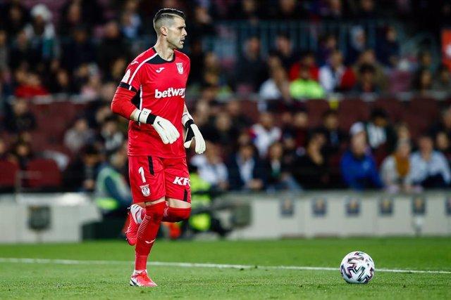 Iván 'Pichu' Cuéllar durante un partido con el Leganés