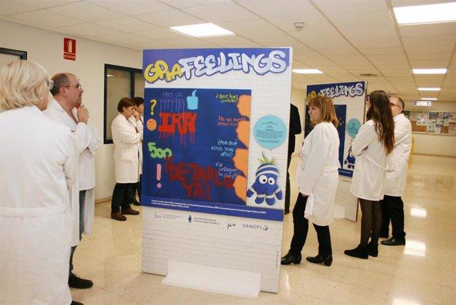 """El Hospital Universitario Doctor Peset acoge desde este miércoles la exposición """"GRAfeelings"""""""