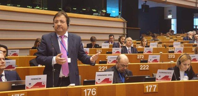 Fernández Vara en el Comité de las Regiones