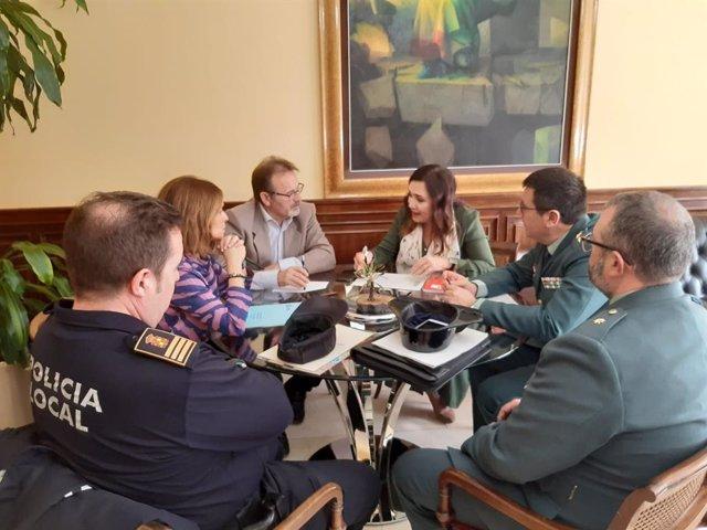 Reunión de coordinación para abordar los robos en la zonas residenciales de Jaén capital