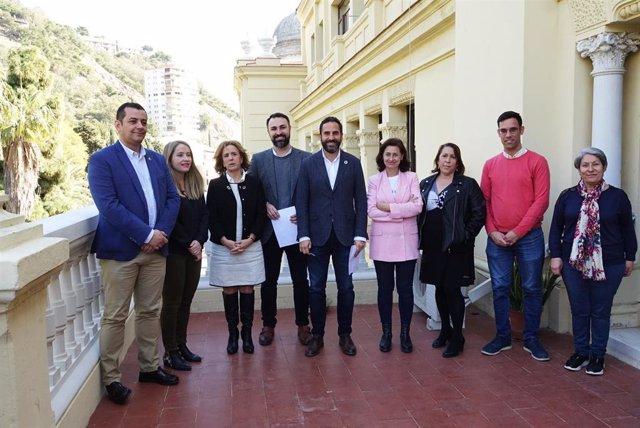 El edil Daniel Perez y el Grupo Municipal Socialista.