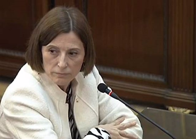 L'expresidenta del Parlament Carme Forcadell declara al Tribunal Suprem durant el judici del procés.