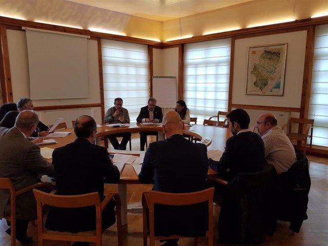 Reunión del Departamento de Vertebración del Territorio, Movilidad y Vivienda con representantes de las empresas que están  onstruyendo, o tienen previsto hacerlo, parques eólicos en Aragón