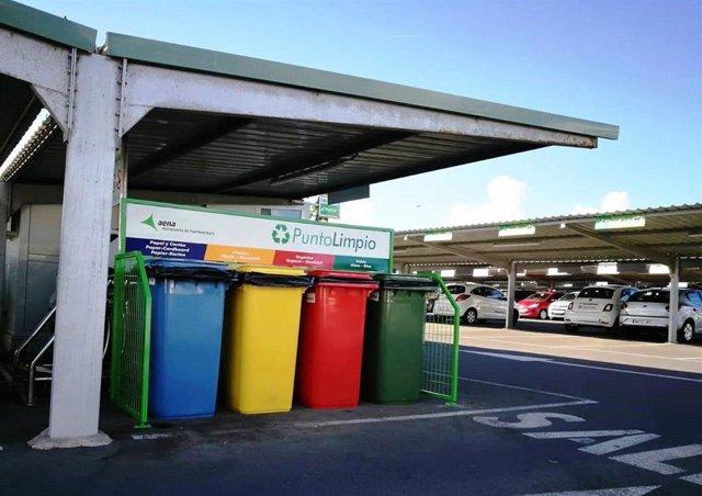El Aeropuerto de Fuerteventura instala un nuevo punto limpio en el aparcamiento público P1