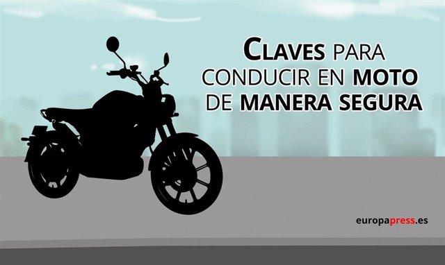 Claves para conducir en moto de manera segura