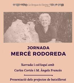 Cartel de la jornada sobre Mercè Rodoreda en la UA.