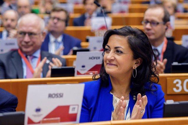 La presidenta del Gobierno de La Rioja, Concha Andreu, en Bruselas