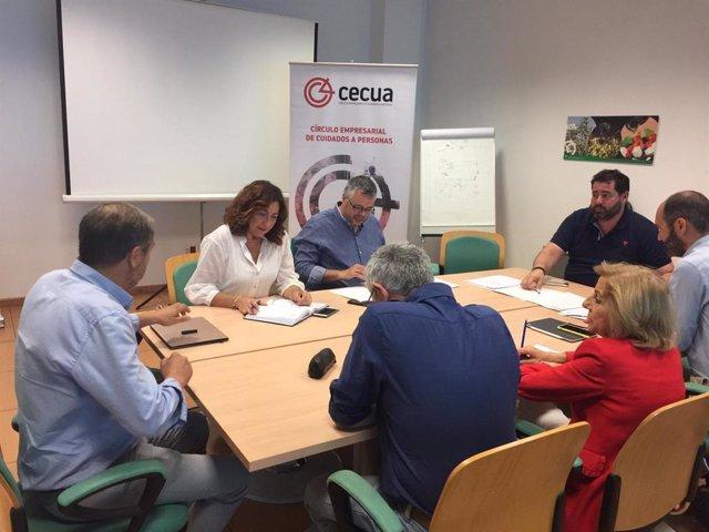 Imagen de archivo de una reunión del Círculo Empresarial de Cuidados a Personas (Cecua).