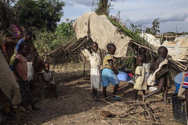 Niños desplazados en República Centroafricana