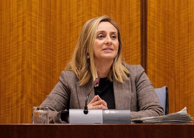 Marifrán Carazo en la Comisión de Fomento en el Parlamento