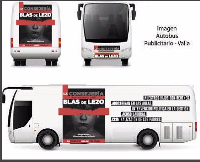 Proyecto de autobús de protesta de familias del CEIP Blas de Lezo