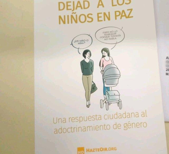 Imagen de recurso de un folleto de la campaña impulsada por HazteOir.