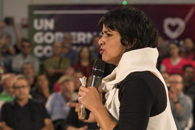 La coordinadora de Podemos Andalucía, Teresa Rodríguez, en una foto de archivo durante un encuentro en Jerez de la Frontera (Cádiz).