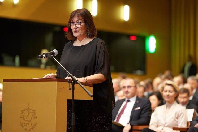 La vicepresidenta de la Comisión Europea para Democracia y Demografía, Dubravka Suica, en una imagen de archivo