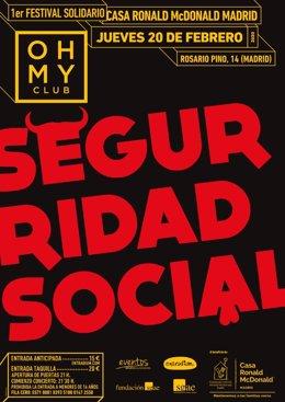 Seguridad Social y la Casa Ronald McDonald de Madrid impulsan un Festival Solidario el 20 de febrero