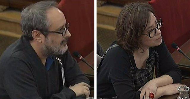 Antonio Baños y Eulalia Reguant, en su declaración como testigos en el Tribunal Supremo.