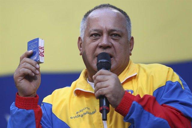 El presidente de la Asamblea Nacional Constituyente (ANC) de Venezuela, Diosdado Cabello.