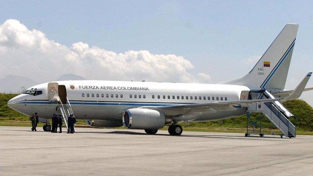 El avión presidencial del jefe de Estado colombiano