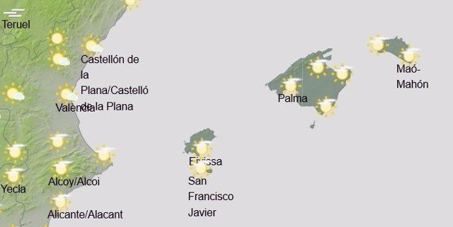 El tiempo en Baleares hoy, 13 de febrero de 2020.