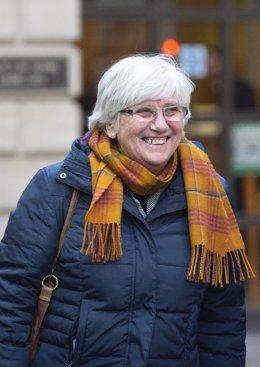 14 November 2019, Scotland, Edinburgh: Former Catalan politician and University of St Andrews professor Clara Ponsati