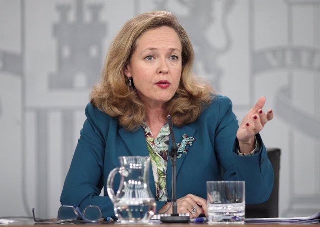 La vicepresidenta tercera i ministra d'Assumptes Econòmics i Transformació Digital, Nadia Calviño
