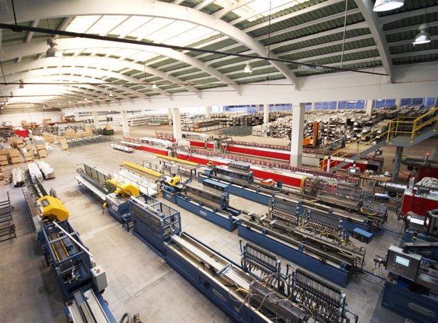Interior da nova fábrica de Cortizo en Padrón