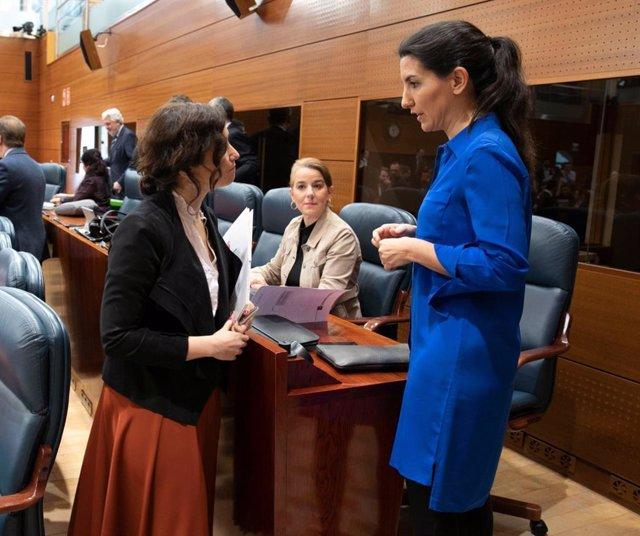 Ayuso y Monasterio en la Asamblea de Madrid