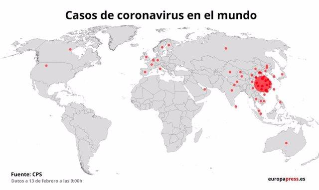 Casos de coronavirus en el mundo