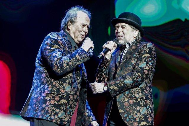 Els cantants Joaquín Sabina i Joan Manuel Serrat actuen al WiZink Center de Madrid el 20 de gener del 2020.