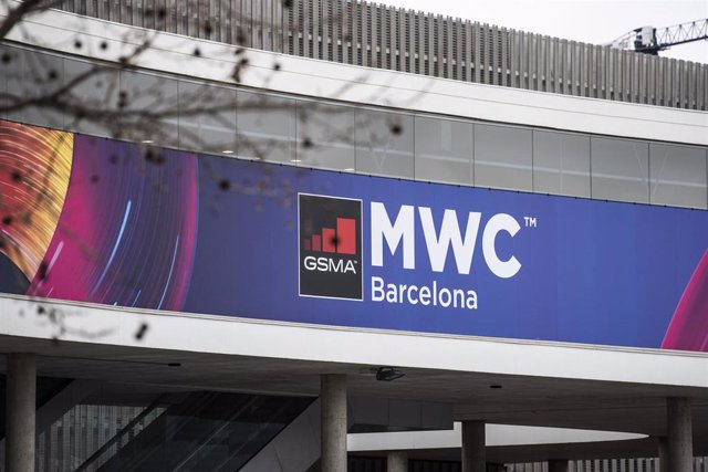 Exterior del pabellón del evento Mobile World Congress