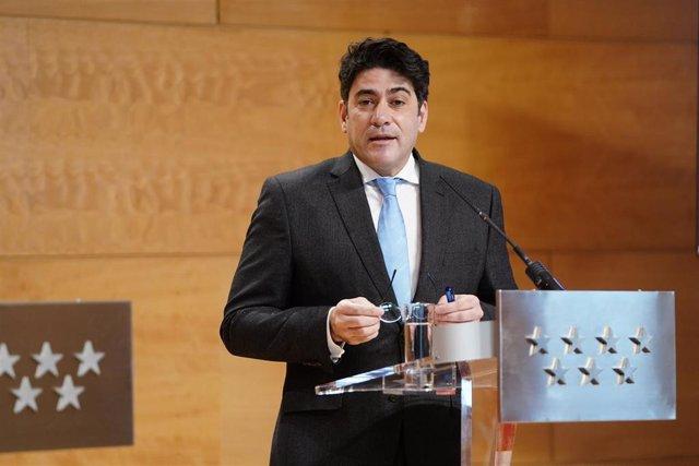 Imagen de recurso del consejero de Vivienda de la Comunidad de Madrid, David Pérez.