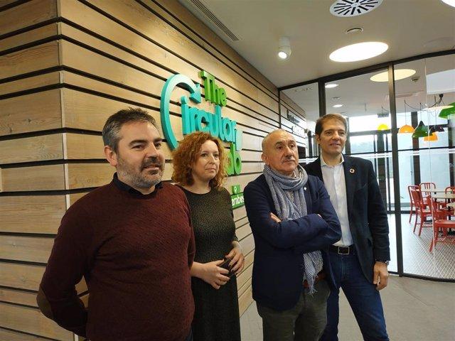 El secretario general de UGT, Pepe Álvarez, visita The Circular Lab