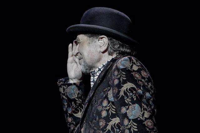 El cantante Joaquín Sabina durante su actuación en el WiZink Center de Madrid el 20 de enero del 2020.