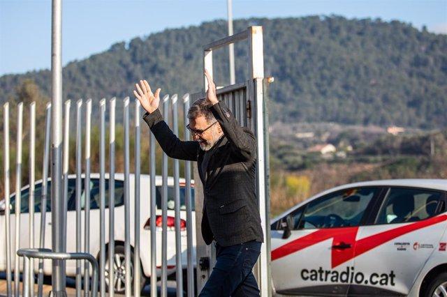 El líder d'Òmnium, Jordi Cuixart, arriba a la seva empresa en el seu primer dia de permís per treballar