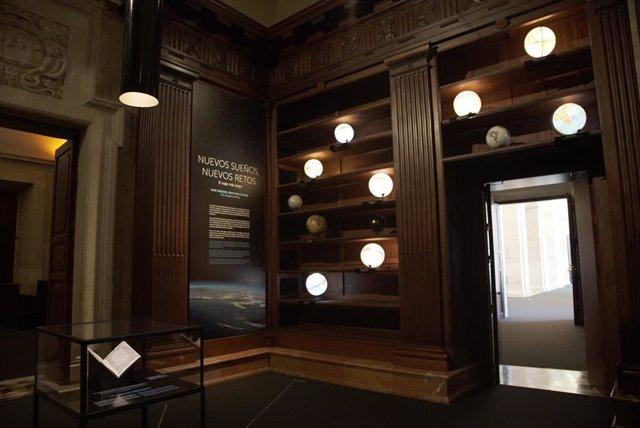 Una de las salas de la exposición 'El viaje más largo: la primera vuelta al mundo'