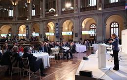 La vicepresidenta Tercera, ministra de Asuntos Económicos y Transformación Digital, Nadia Calviño, durante su intervención en la inaguración del Encuentro Informativo: II Observatorio del Ahorro y la Inversión en España organizado por Bestinver y el IESE.