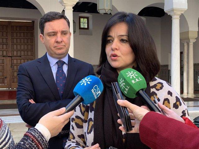 Virginia Pérez en declaraciones a los medios de comunicación